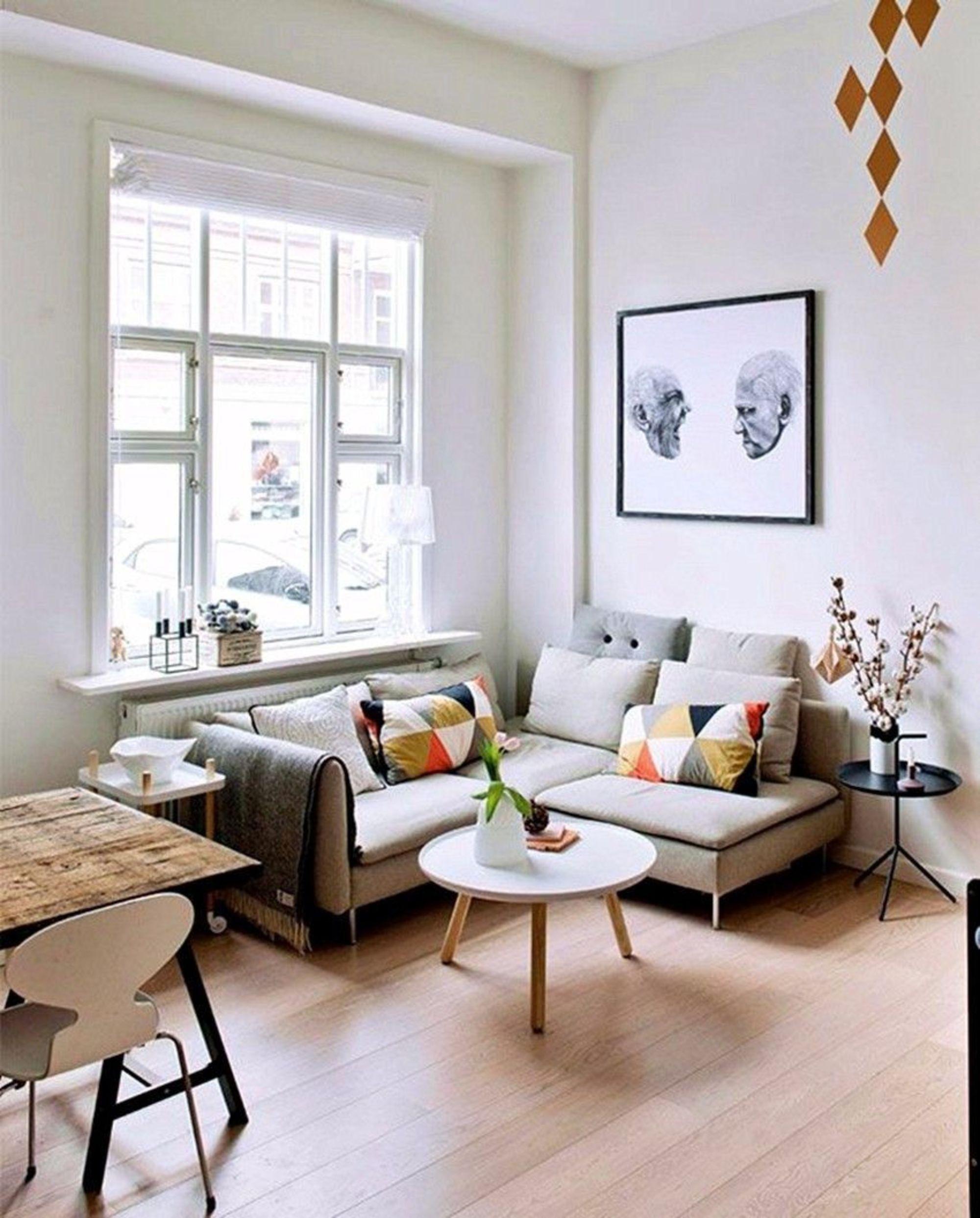 Canape D Angle Gris Pour Un Petit Salon Cosy Au Style Nordique