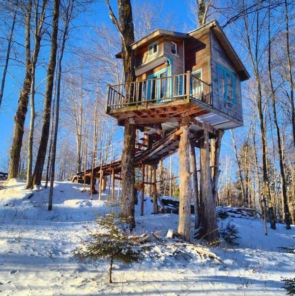 casas en los arboles #treehouse Tree houses Pinterest Casas - casas en arboles