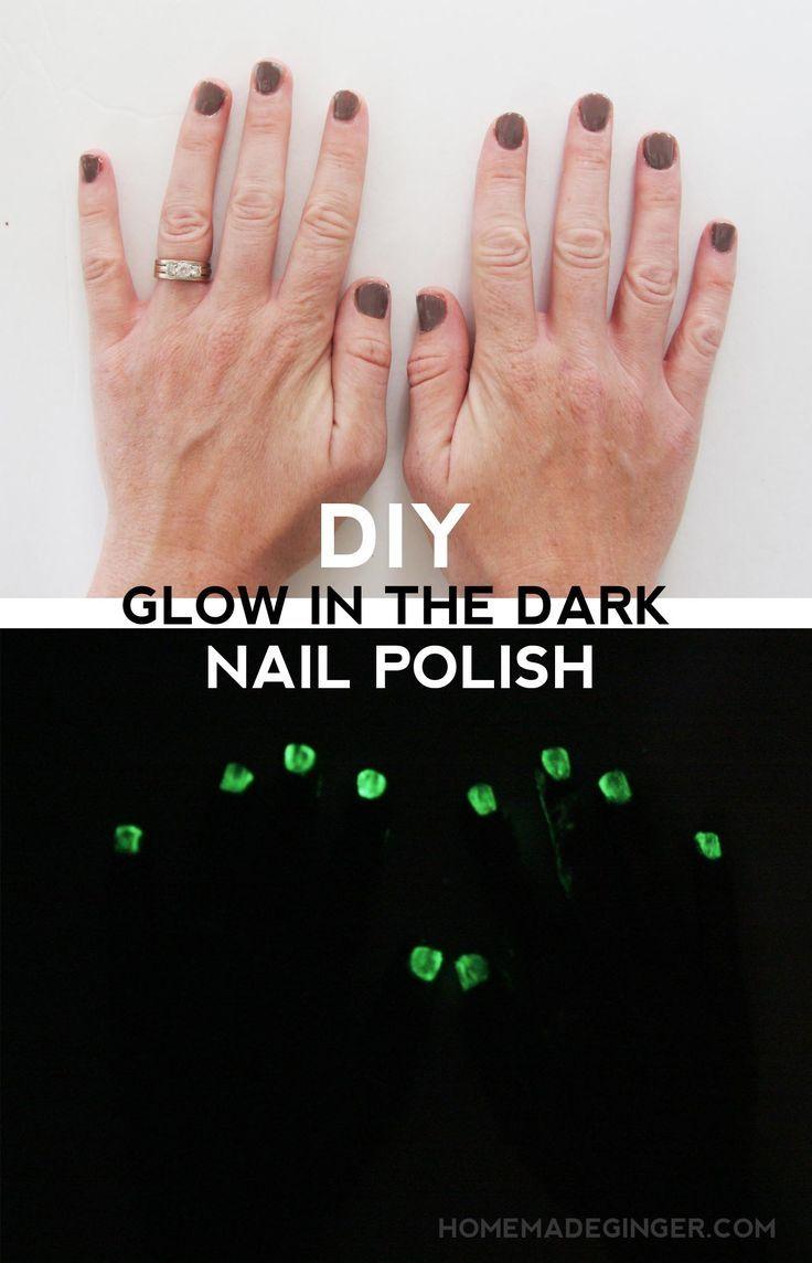 DIY glow in the dark nail polish | Dark nail polish, Dark nails and ...