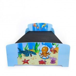 Kinderbett Motiv Ozean Abbildung mit Matratze