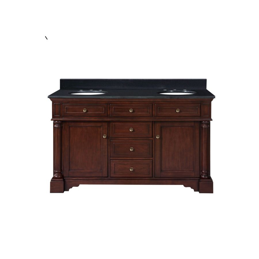 798 Allen Roth 61 In Auburn Albain Double Sink Bathroom Vanity With Top At Lowes
