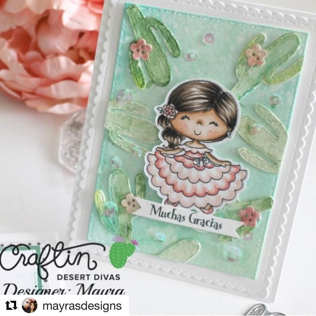 Adore Mayra's sweet card. 😍 #Repost @mayrasdesigns with @repostapp  ・・・  Have you seen the adorable new cactus die from @craftindesertdivas 😍🌵💚 I used it for my card today sneak peeking the new Fiesta Time stamp set ! #mayrasdesigns #craftindesertdivas #craftindesertdivasstamps #craftindesertdivasgallery