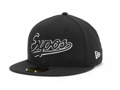 more photos bba46 2d605 ... spain montreal expos new era mlb black and white fashion 59fifty cap  8152b 655cd