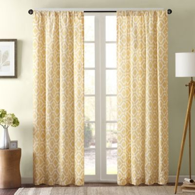 Delray Diamond Window Curtain Panel Panel Curtains Bed Bath And