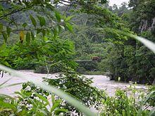 Ecuador – Brücke über den Río Pastaza zwischen Macas und Puyo