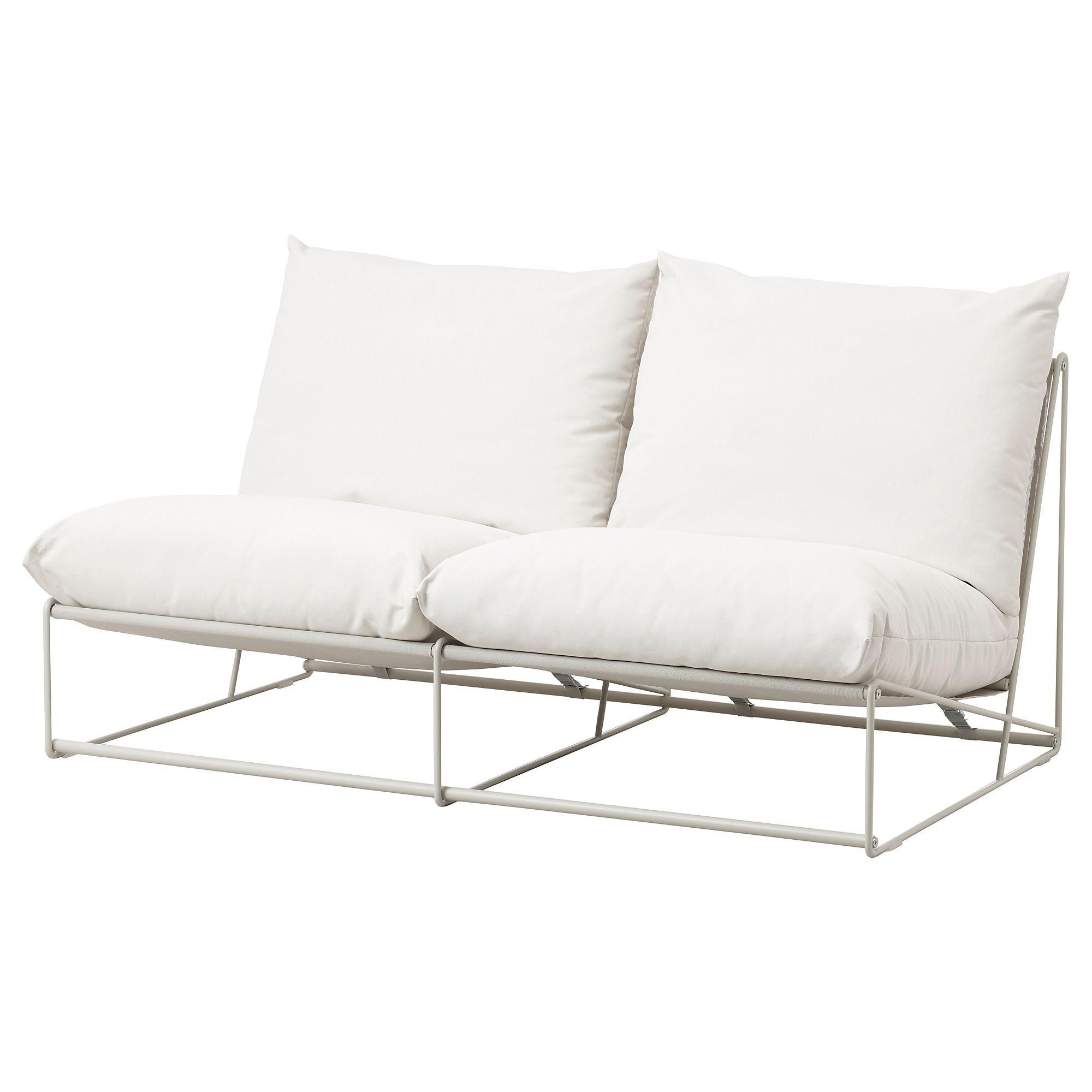 Havsten 2er Sofa Drinnen Draussen Ohne Armlehnen Ohne Abschluss Beige Ikea Deutschland Amorini Divani Cuscini Divano