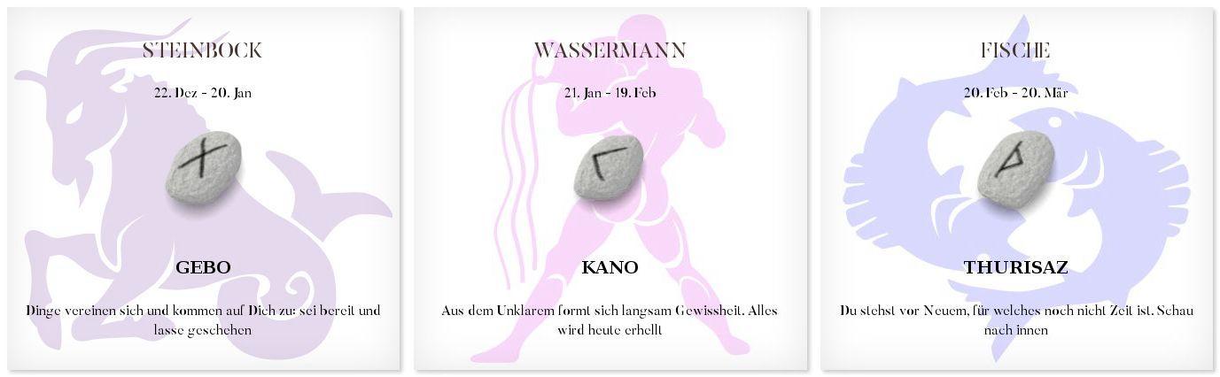 Runen Tageshoroskop 13.11.2016 #Sternzeichen #Runen #Horoskope #steinbock #wassermann #fisch