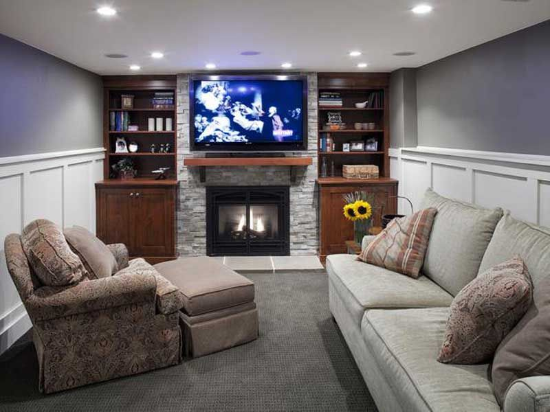 Here Are Some Small Basement Remodeling Ideas You Can Implement To Make The House Well Organized Al Basement Living Rooms Basement Remodeling Basement Design