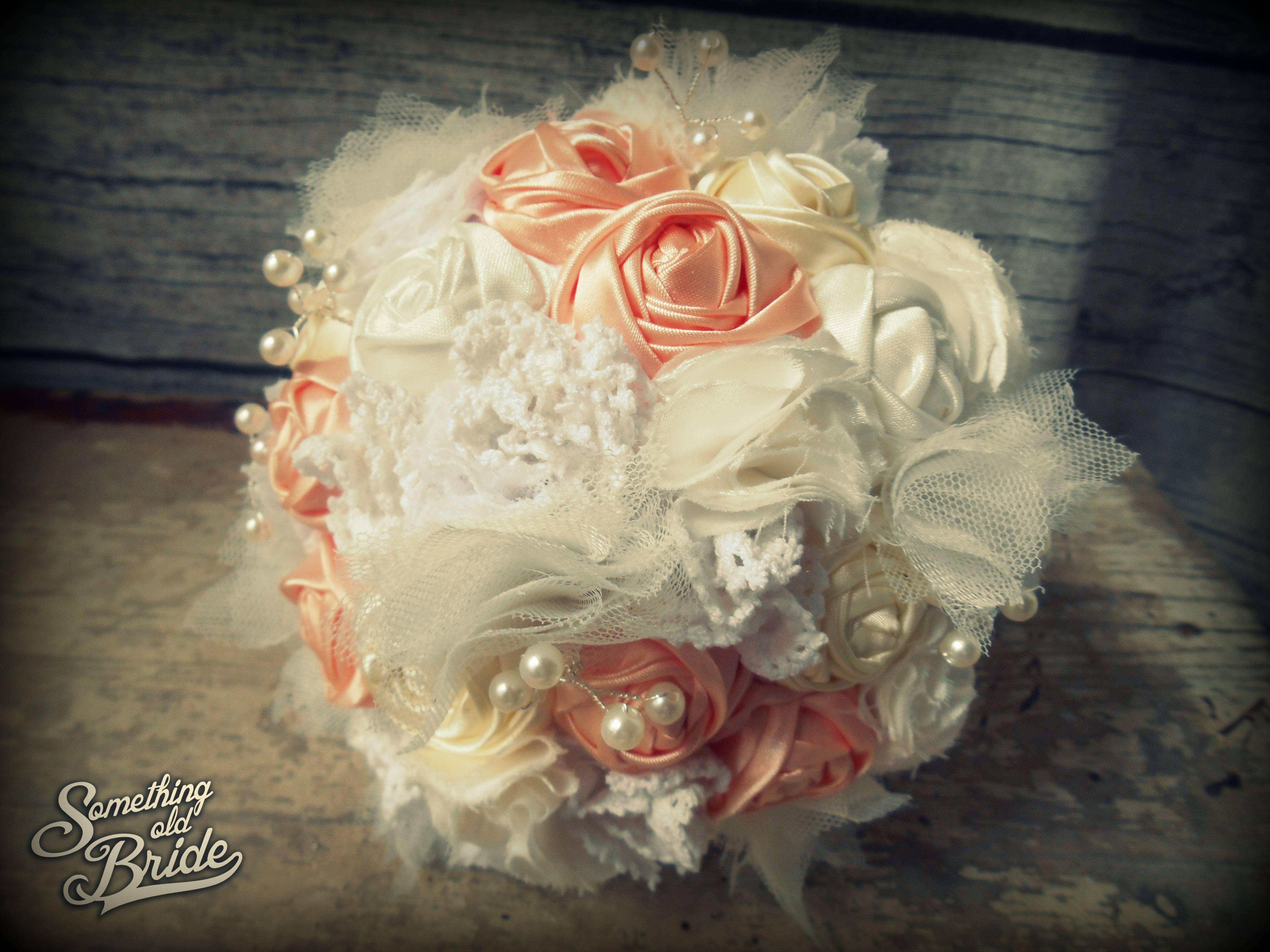 Nikoletta's set Vintage Rose Bridal Bouquet  www.somethingoldbride.com