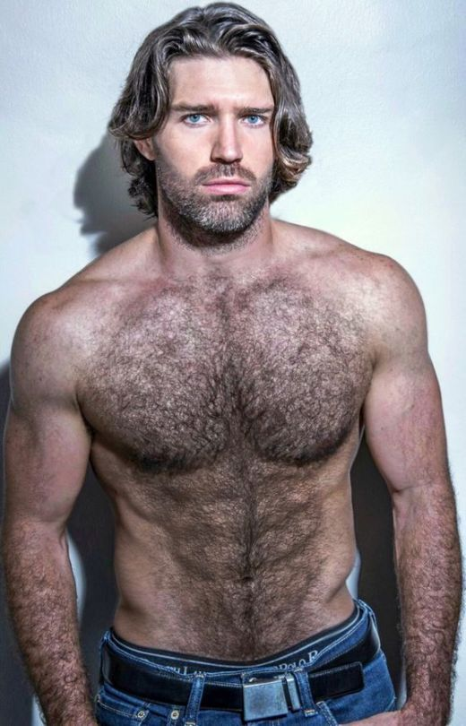 hairy chest gay men