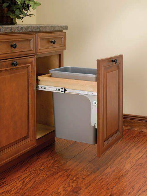 Single Top Mount 1 5 Face Frame Reduced Depth Wood Waste Containers Kitchen Cabinet Design Wood Waste Rev A Shelf