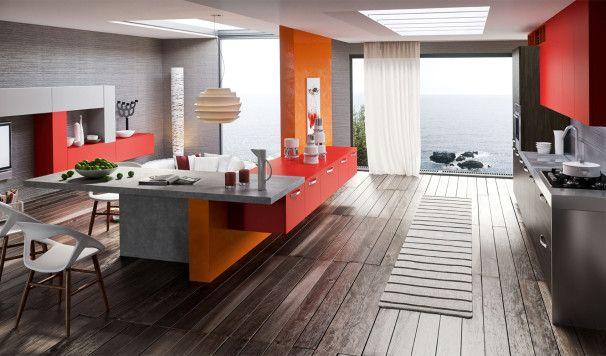 Kitchen Design Cool Kitchen Designs With Red Orange Gray Kitchen Fair Contemporary Kitchen Chairs Decorating Design