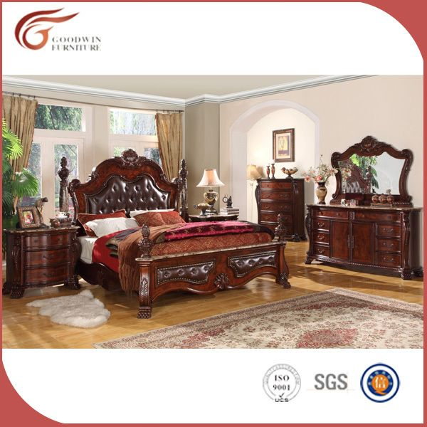 Estilo italiano cl sico de madera s lida muebles juego de for Muebles estilo italiano