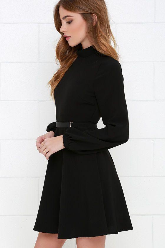 8196c4a09e Perfectly Posh Black Long Sleeve Dress