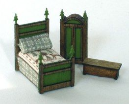 ••  Francesca Vernuccio Miniatures:  MUEBLES PARA ESCALA 144.  c0untry set