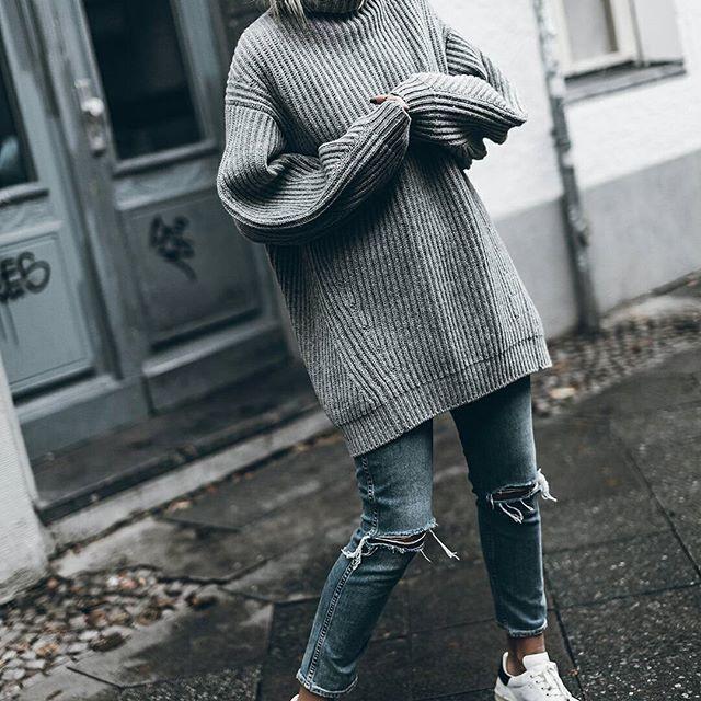 Grey  Cuddly-knit-Tuesday! Hope you're having a great one!   http://liketk.it/2pskY @liketoknow.it #liketkit #ootd
