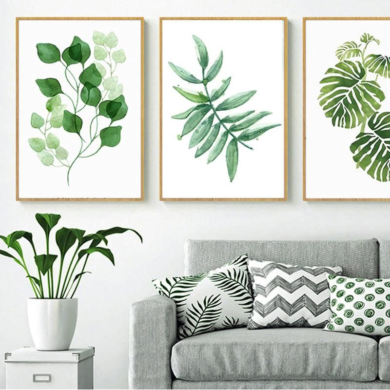 Nordic Green Leaves Natural Simple Modern Wall Art Plant Species