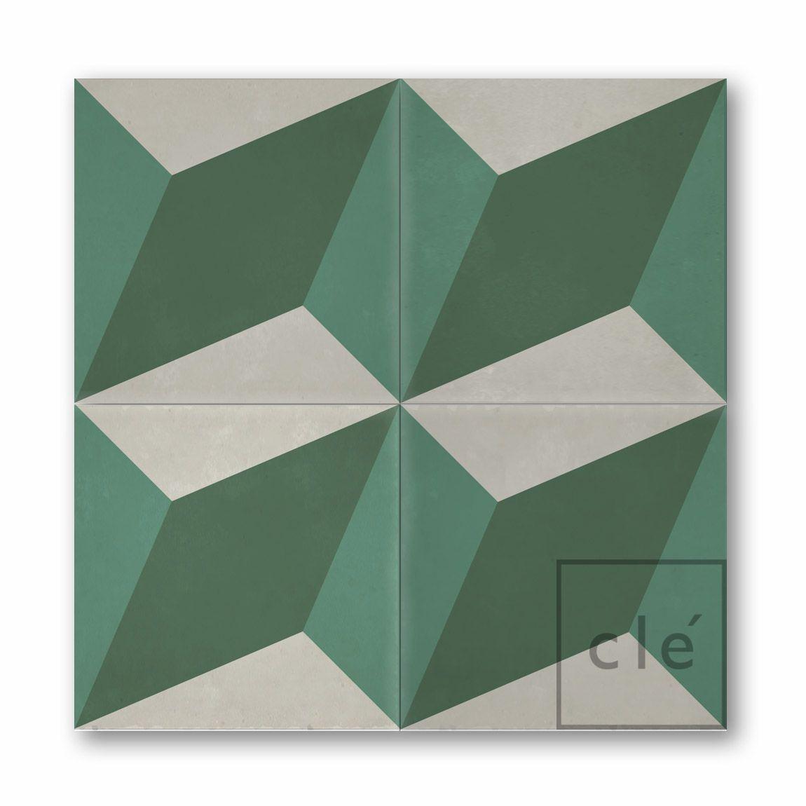 Bathroom Flooring: Cle tile - cement tile - diamond twist c w1