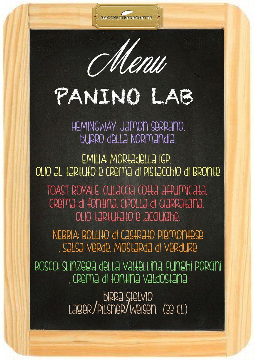 Panino lab Ordina qui www.bacchetteforchette.it/proposta/66