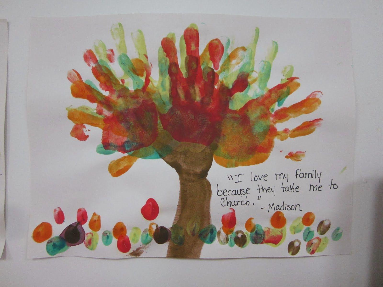 Family Tree Handprints