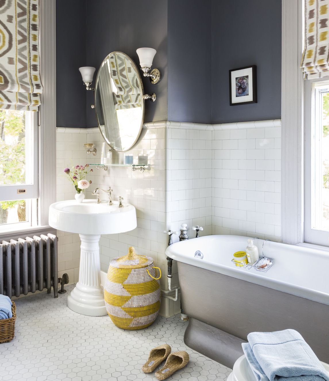 BEFORE AND AFTER BATHOriginal details in a Victorian-era bath inspire a retro refresher.Not every bath is due for a total overhaul—sometimes, all that's needed is a few simple changes. See how the owners of this guest bedroom in an 1887 Queen Anne, in Stamford, Connecticut brightened the room without dulling the period feel. Details, floor plan, photos in the November/December issue of This Old House.Photograph by Zach DeSartSee 13 Easy Bathroom Upgrades at the This Old House website.
