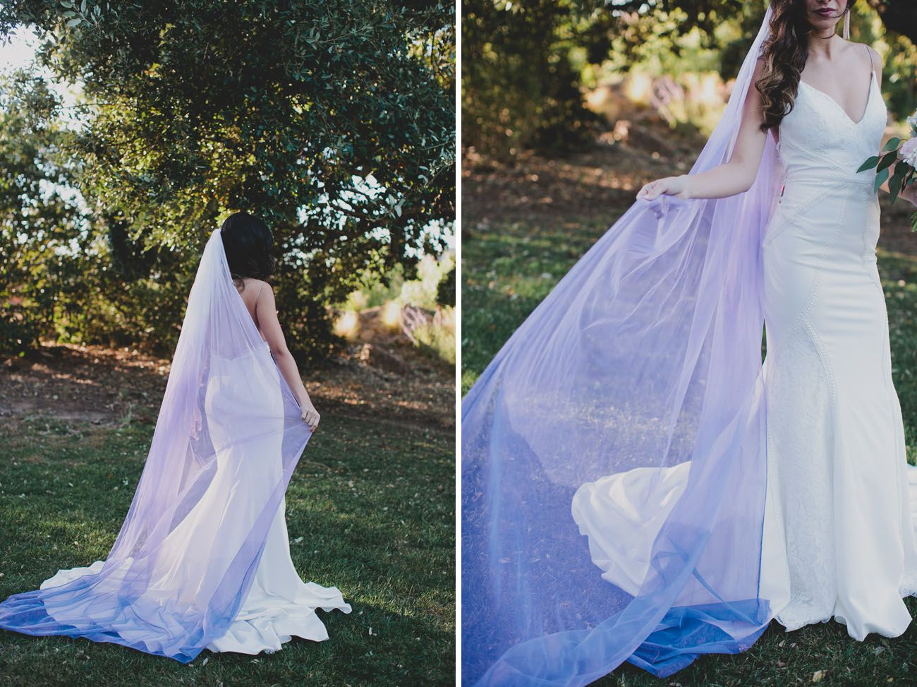 Diy Your Own Ultra Violet Veil Diy Wedding Veil Wedding