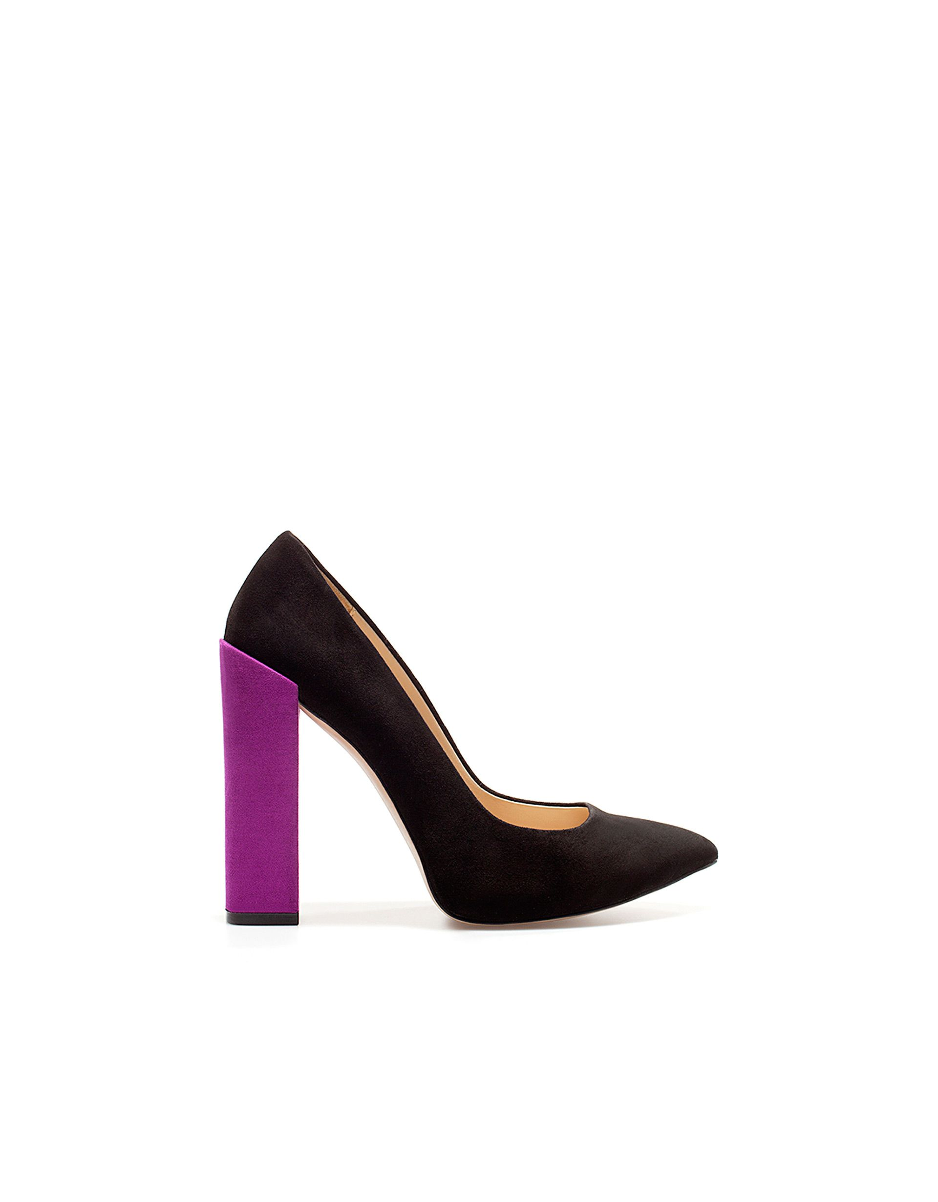 Tacones Schuhe Zapatos Tacón De Ancho Zara Bicolor XXw1x