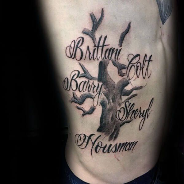 Family Tree Tattoos For Men