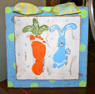 Easter Bunny Arts And Crafts Childrens Handprints Footprints