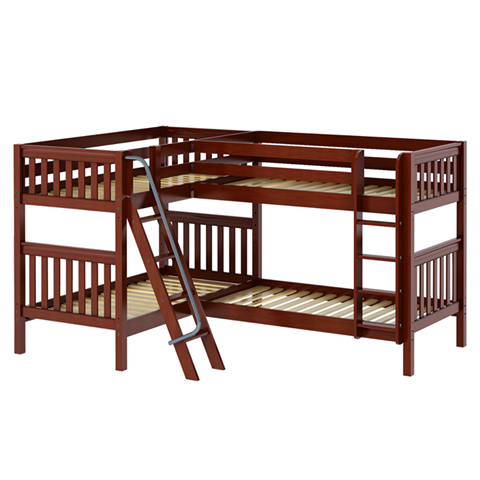 Corner Bunk Bed More Efficient Way To Sleep 4 People In Small Space Perfect For Cottage Chalet Kinda Cool Corner Loft Corner Bunk Beds Corner Loft Beds