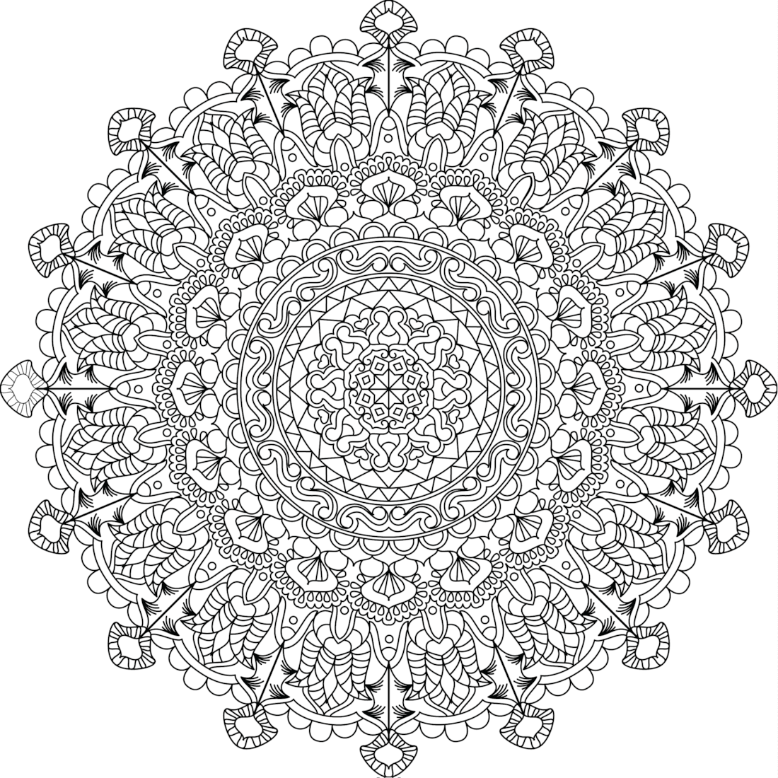 pin by monday mandala on printable mandalas to color free heart coloring pages free. Black Bedroom Furniture Sets. Home Design Ideas