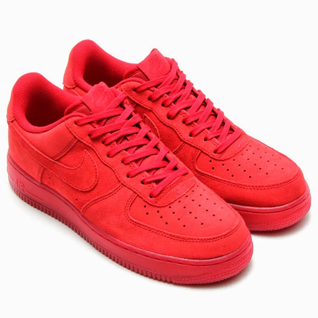 """BUILD & DESTROY...: Nike Air Force 1 Low """"Solar Red"""" 