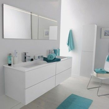 meuble de salle de bains cosmo blanc calcaire n 3 leroy. Black Bedroom Furniture Sets. Home Design Ideas