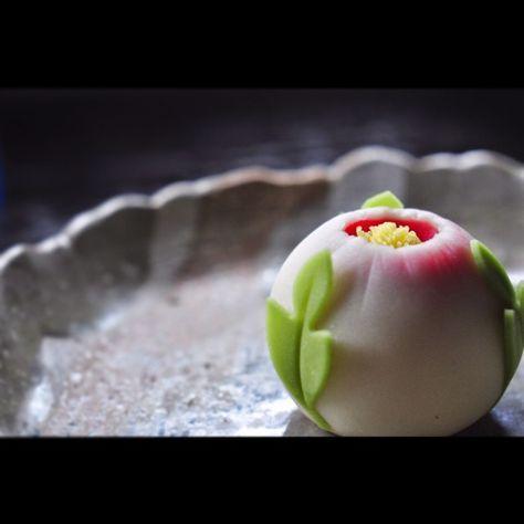 玉華寂菓 「牡丹」2 #和菓子 #煉切 #ねりきり #wagashi #あん #wagashi ...