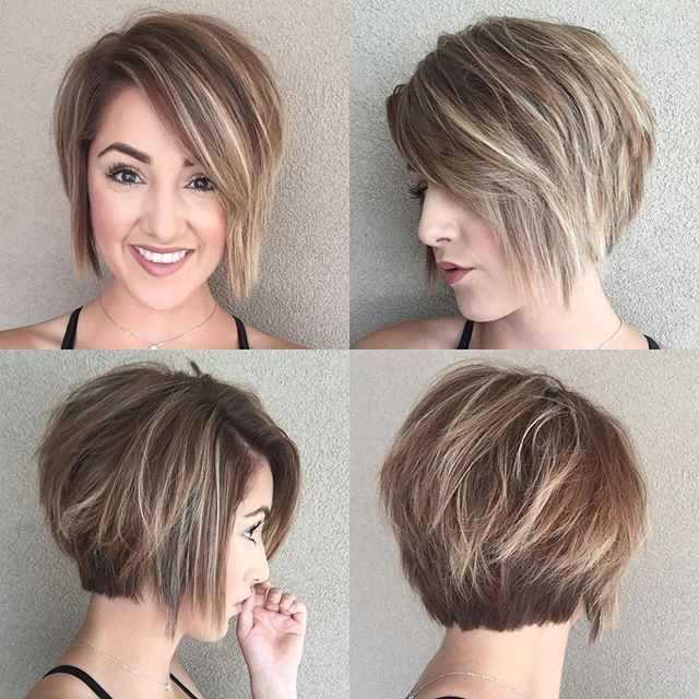22 Easy Daily Bob Hairstyles For Everyone Short Bob Mob Lob Thick Hair Styles Short Hair Styles For Round Faces Messy Short Hair