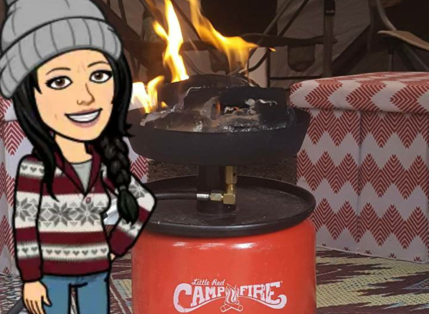 I Give This Product 5 Stars And Here S Why We Are Rv Ers And A Lot Of The Parks And Locations We Have Visited Do Not Allow Wood Fires Little Red Campfire