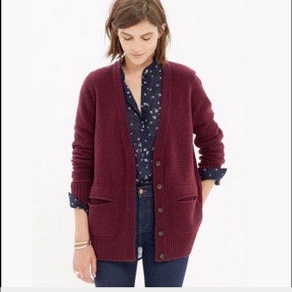 Madewell maroon cardigan Maroon button down wool cardigan!! Madewell Sweaters Cardigans