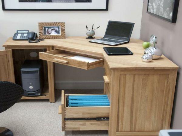 eckschreibtisch selber bauen kreative vorschl ge desk ideas pinterest. Black Bedroom Furniture Sets. Home Design Ideas