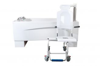 Here is the Syncra height adjustable bath with electronic and detachable seat for easy access. Read all about how Astor-Bannerman approach the design, manufacture and testing of our specialist equipment to give you peace of mind that you ger the highest quality, reliable disability and care equipment. www.astorbannerman.co.uk