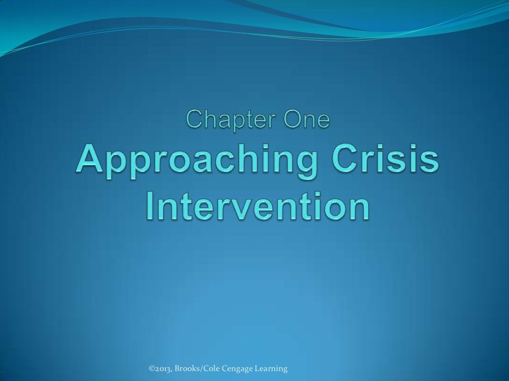 1 Approaching Crisis Intervention By Don Thompson Via Slideshare