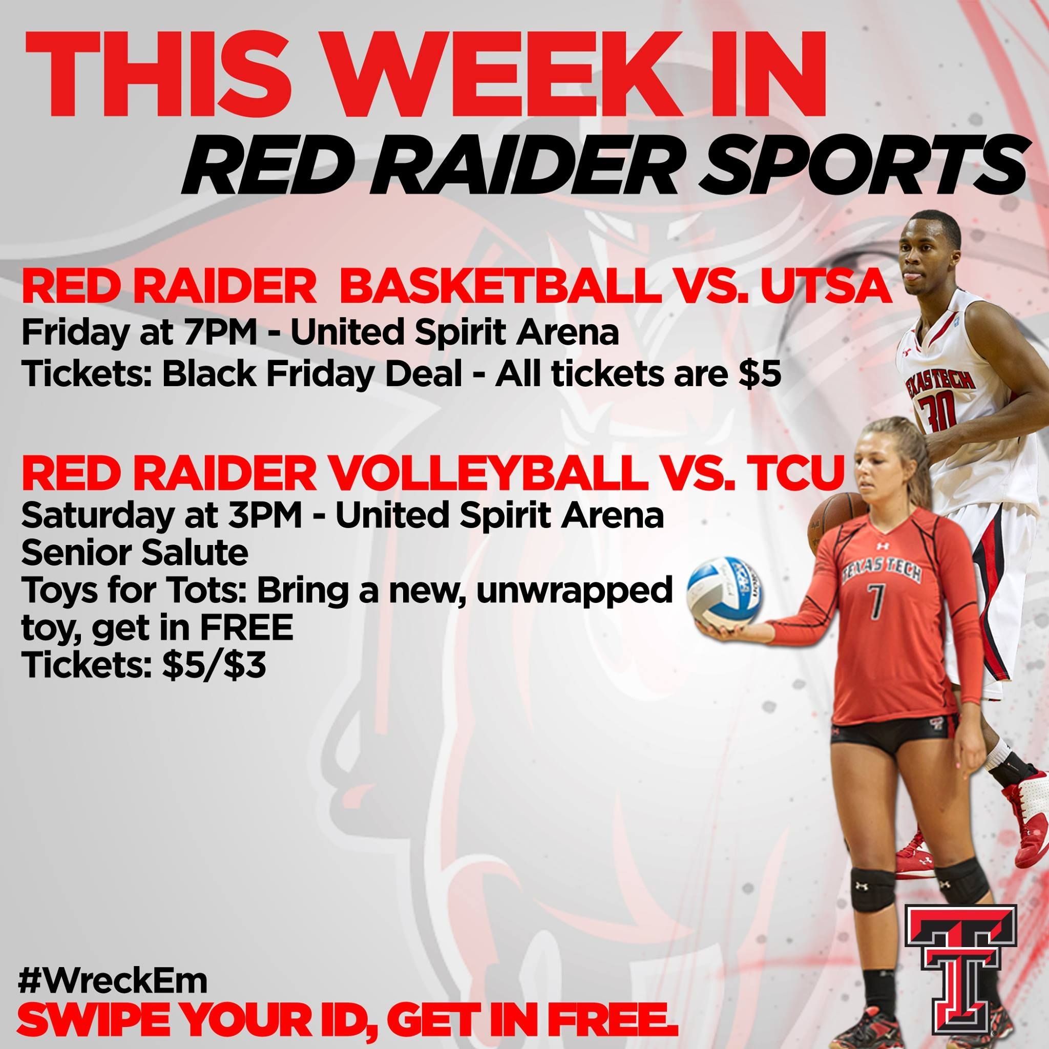 Check Out What S Happening This Week In Red Raider Sports Red Raiders Basketball Texas Tech Game Red Raider