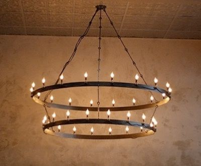Barrel Ring Chandelier Just Curious How To Make It Myself