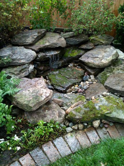 Natural small pondless waterfalls bing images water for Small backyard waterfalls