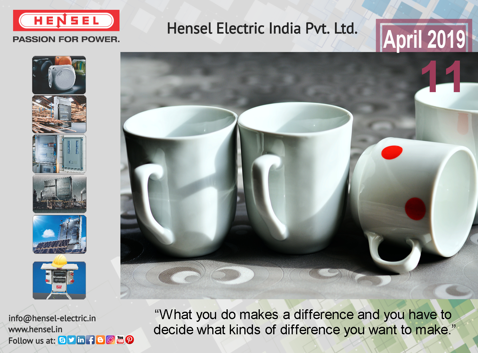 What You Do Makes A Difference And You Have To Decide What Kind Of Difference You Want To Make Hensel Passionforpower Glassware Tableware
