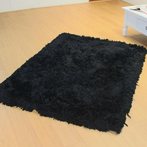 Sumptious Black Fluffy Rugs Lowest Prices Guaranteed Black Rug White Room Decor Black Carpet