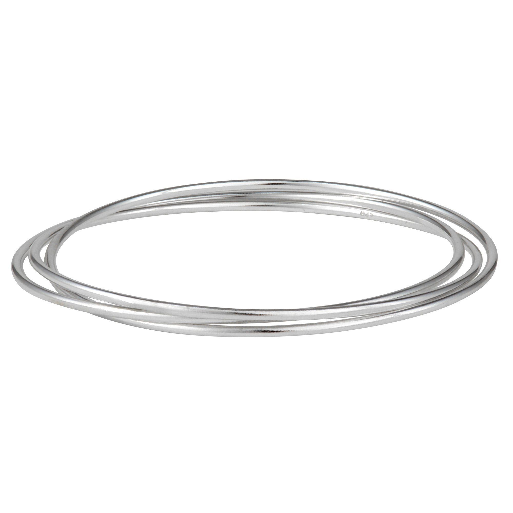 sterling chunky plain bangle product bracelets jewellery silver bangles missing links