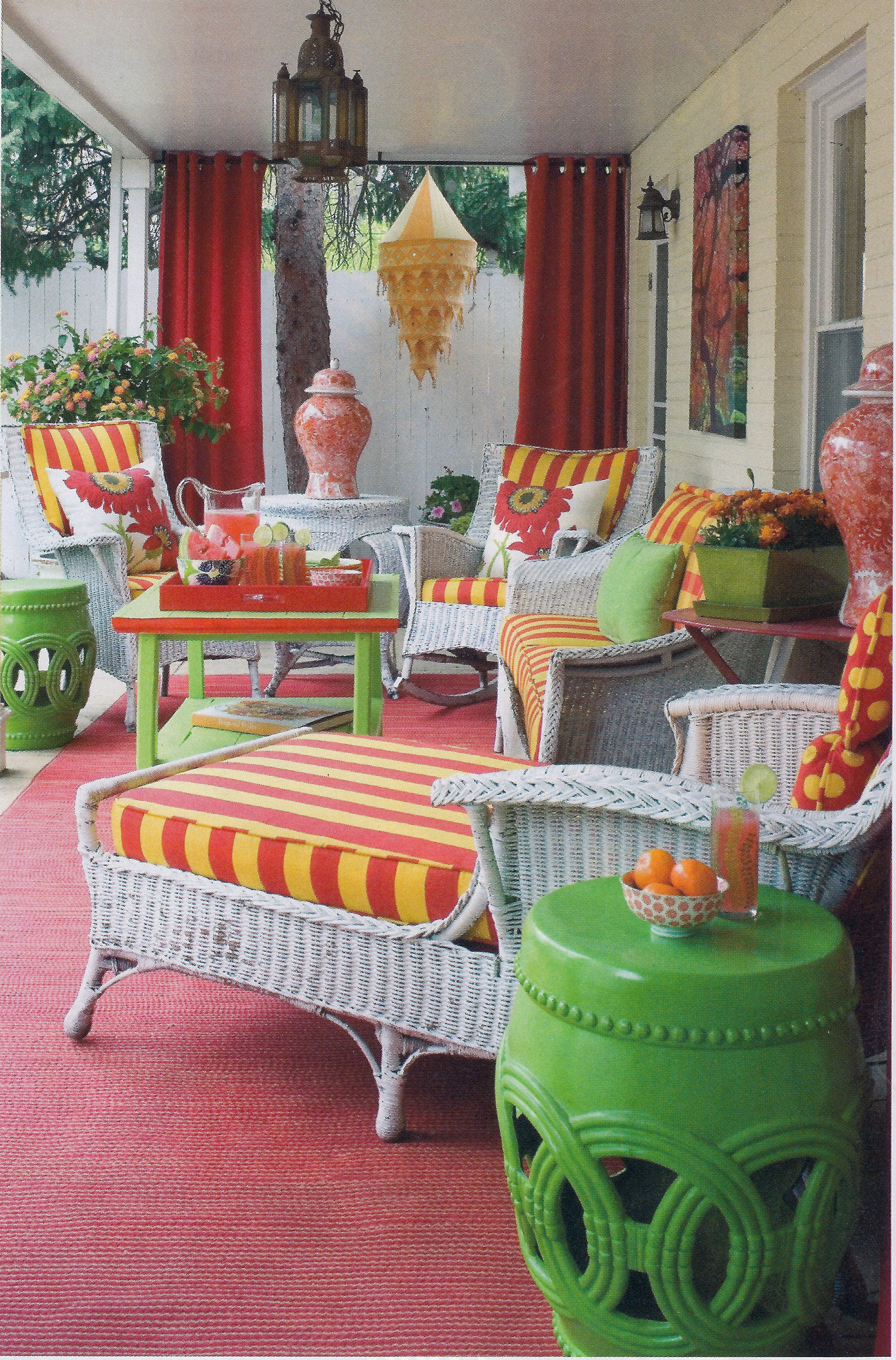 Colorful Porch.love Decorating Country