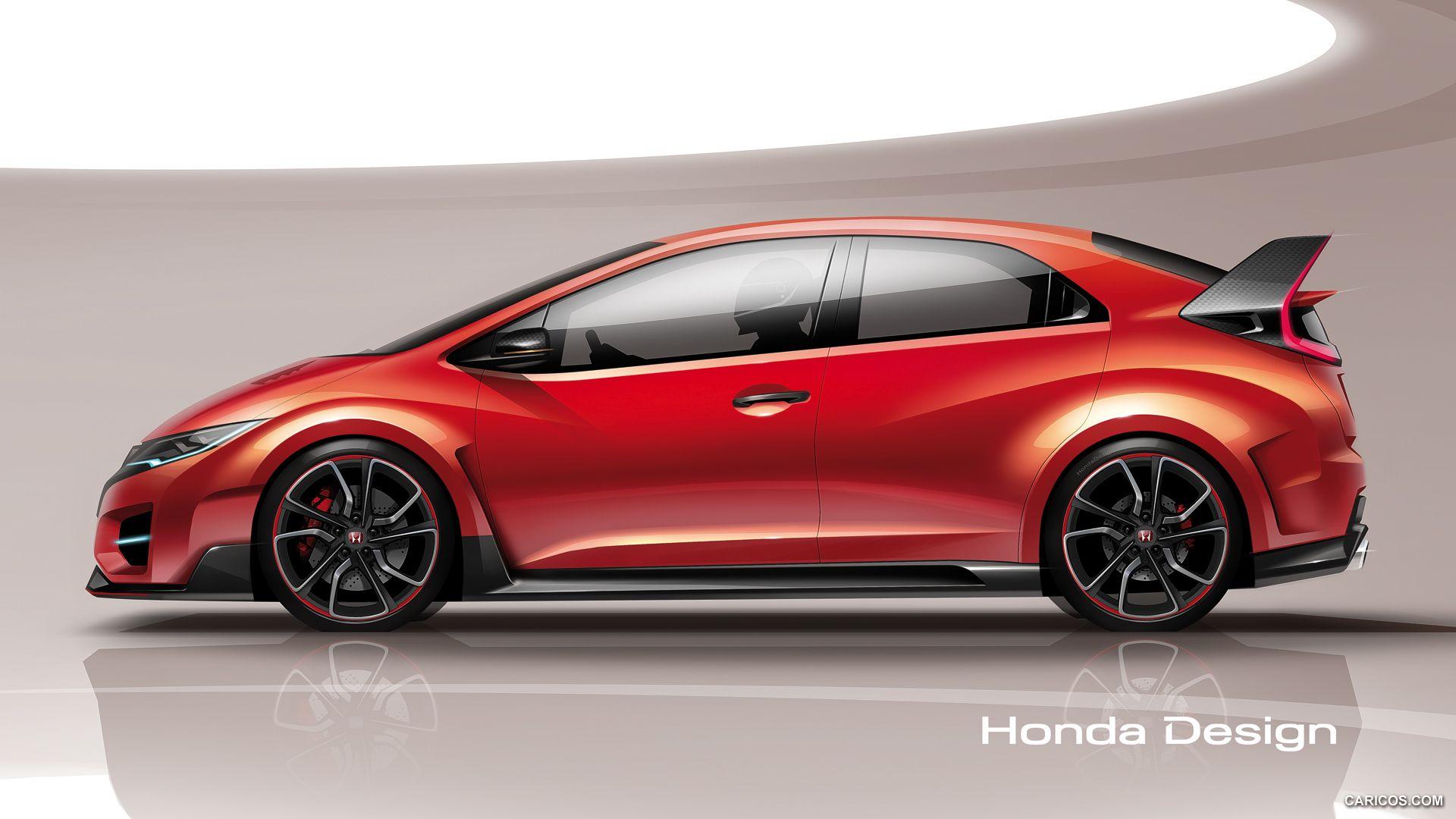 2014 Honda Civic Type R Concept Wallpaper | car sketch | Pinterest ...