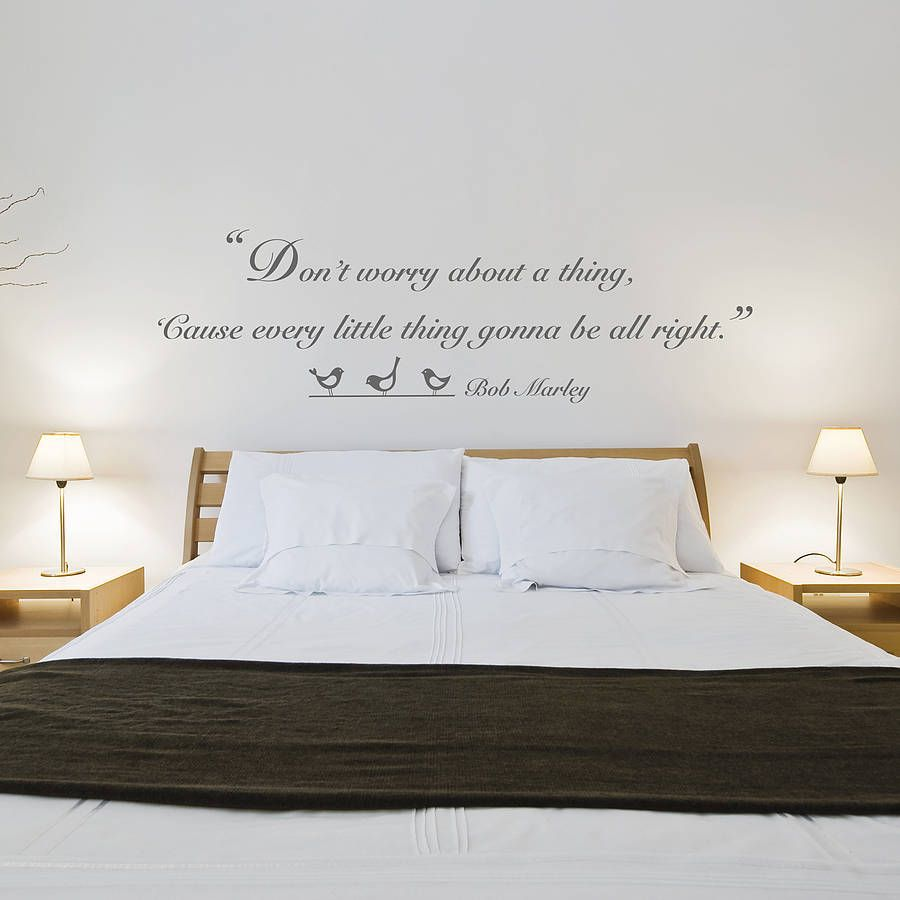 bob marley wall quotes | Bob Marley Quote Vinyl Wall Sticker -