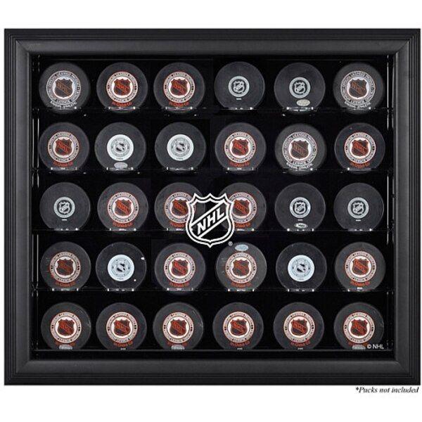 Fanatics Authentic NHL Shield 30-Puck Black Display Case